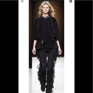 Isabel Marant High Waisted fringe leather pant